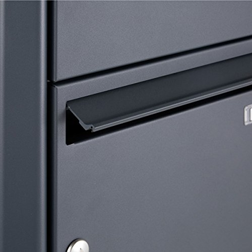 Standbriefkasten Design BASIC 380-P mit Klingel- Sprechteil – Anthrazitgrau 7016 (1 Parteien) - 4