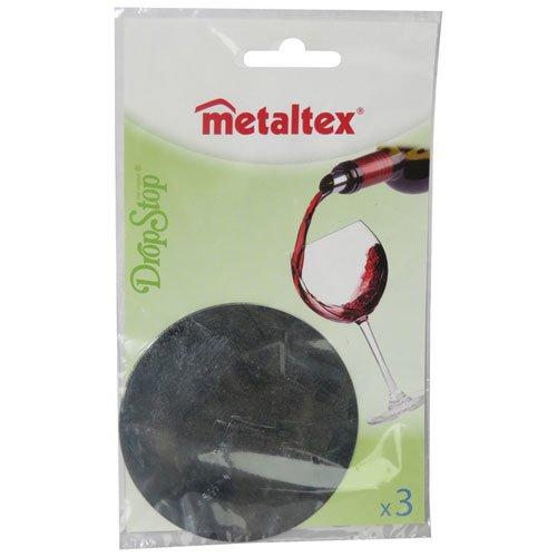 Metaltex 257135 Weinplättchen Tropf-Stop, 3-er Set