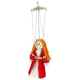 ABA 20 cm, Serie Noblewoman Marionette-Giocattolo in Legno, Colore: Rosso