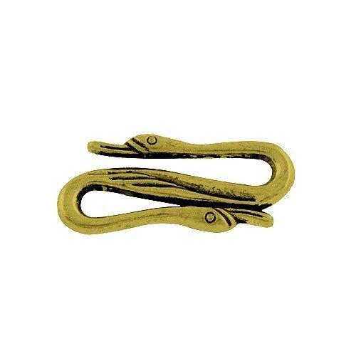 Paket 20 x Antik Bronze Tibetanische 11 x 25mm S-Haken Verschluss - (HA12235) - Charming Beads