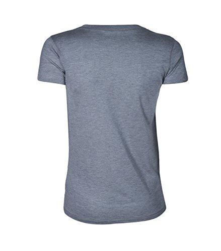 Majestic Damen Kurzarm Shirt Aus Reiner Seide in Grau 028 gris chine