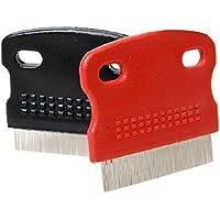 homiki 1pc perro cepillo (acero inoxidable protección salón peine Carde para cepillado de pequeño para la pérdida de cabello Remover Clipper herramienta de limpieza Cortadora, color aleatorio