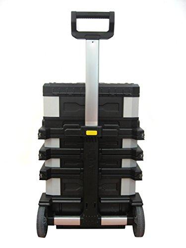 Stanley FatMax Rollende Werkstatt aus Metall-Kunststoff 1-95-622 – Werkzeugwagen leer – Vielseitige Werkzeugbox für Kleinteile und große Werkzeuge - 4