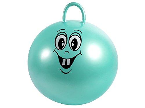 Balón salterino con mango y cara divertido para niños, diámetro 50cm...