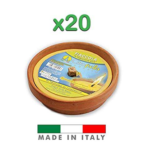 Palucart Candela citronella Candele per Esterno coccio di Terracotta 17 Set da 20 Pezzi Giardinaggio antizanzare Feste ed Eventi