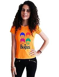 LetsFlaunt The Beatles Girls Orange T-shirt Dry-Fit Nw