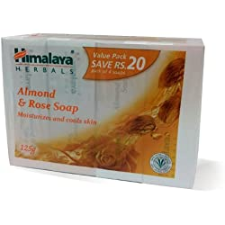 Himalaya Herbals Almond and Rose Soap, 125gm (Pack of 4) with Value Pack Save Rs.20