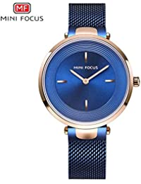 Mini Focus/Fashion Ladies Relojes de Moda Reloj de Cuarzo Reloj de Correa de Reloj