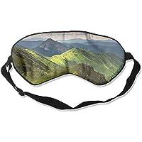 Eye Mask Eyeshade Green Mountains Landscape Sleeping Mask Blindfold Eyepatch Adjustable Head Strap preisvergleich bei billige-tabletten.eu