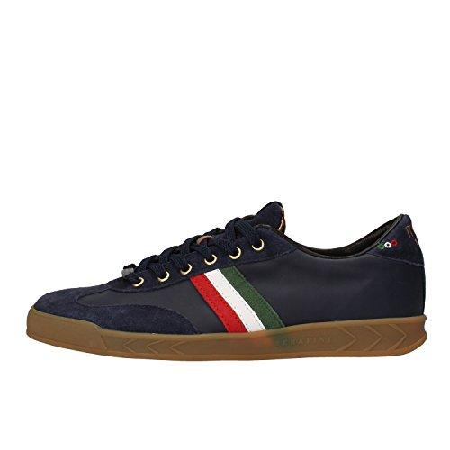 SERAFINI sneakers uomo 42 EU blu pelle camoscio AF863-B