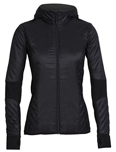 Icebreaker Damen Merino Helix Long Sleeve Zip Hoodie, Damen, Black/Jet Heather, X-Large Adidas Warm Ups