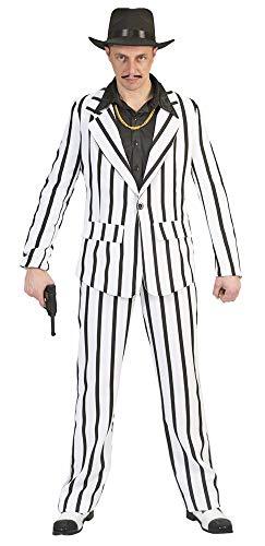 Gangster Kostüm Mafiaboss - Mafiaboss Gangster Pete Kostüm - Schwarz Weiß - Gr. 52 54