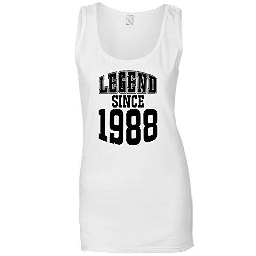 30 ° Compleanno Maglia delle Donne La Leggenda dal 1988 Regalo Made in 30 Anni White
