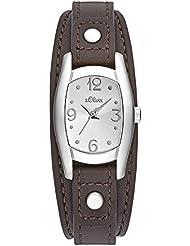 s.Oliver Damen-Armbanduhr Analog Quarz Leder SO-3101-LQ