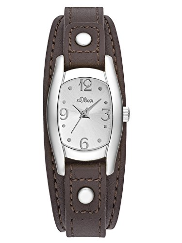 s.Oliver Damen-Armbanduhr Analog Quarz Leder SO-3101-LQ