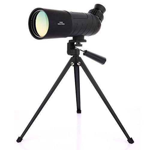 OXA 20-20x60 Abgewinkeltes wasserdichtes Spotting Scope für Vogelbeobachtung mit Stativ Portable HD Monokulares Teleskop Hochleistungsbereich für Zielschießen Bogenschießen Outdoor Aktivitäten