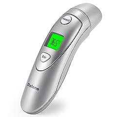 Idea Regalo - Termometro Medico per Fronte e Orecchie Metene, Termometro Digitale Infrarosso Adatto a Neonati, Bambini, Lattanti e Adulti Aprovato dalla CE e FDA