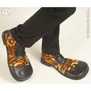 WIDMANN wdm1838t?Disfraz para adultos zapatos Party tigrate con suela de goma, multicolor, talla única