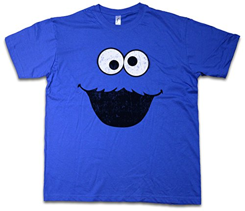 COOKIE MONSTER T-SHIRT - Macaron Puppet Sesame Monster Place Sesamstraße le glouton Ernie TV USA Street Taglie S - 5XL