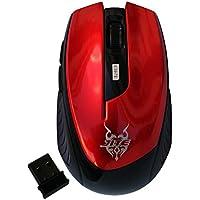2.4Ghz Wireless Mobile Mouse ottico con 6 tasti, 3 Livelli dpi con ricevitore wireless USB