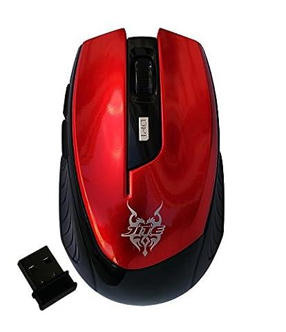 2.4G Optische Wireless Gaming Maus mit verstellbaren 2500 DPI, 6-Tasten,USB Nano Receiver für Gamer Pro Office (Martin Mini Mac)