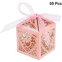 YeahiBaby Cajas de Caramelos Bombones Dulce Chocolate de Papel Cajas de Regalo para Fiesta Boda Decoraciones