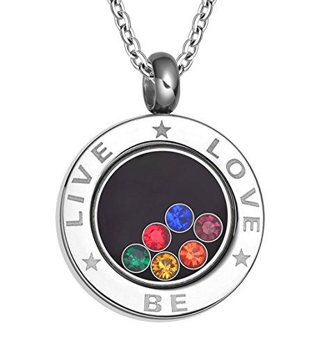 Fengteng-Unisex-Edelstahl-Regenbogen-CZ-Halskette-Homosexuell-Lesbisch-LGBT-Stolz-Runde-Anhnger-mit-Eingraviertem-Liebes-Halskette