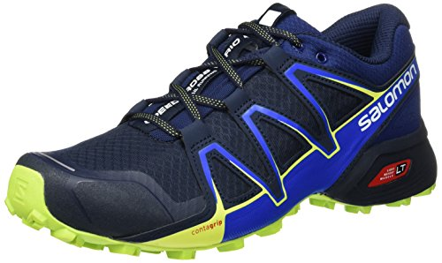 Salomon Speedcross Vario 2, Zapatillas de Trail Running para Hombre, Azul Navy Blazer/Nautical Blue/Lime...