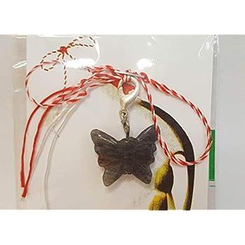 IohanaSchmuck Martisor, Charm, Anhänger aus Edelsteine, Iolith Schmetterling, handmade, eigene Herstellung