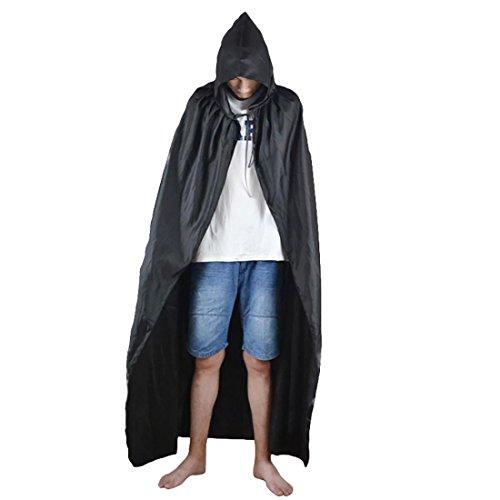 Und Kostüm Piraten Weibliche Männliche - HAOBAO Halloween-Kostüm Erwachsene männliche und weibliche Schwarze Umhang, 160cm