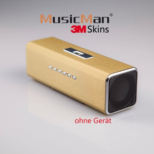 MusicMan MA Sticker, Skin, Aufkleber Matte brush gold S-13MA Original MusicMan Zubehör…