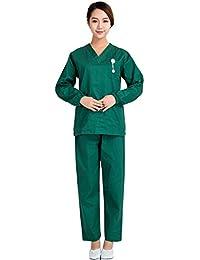 Free Fisher Blouse Vêtement de Travail Femme Blouse + Pantalon Ensemble infemier uniforme salon pour Médecin/Docteur...