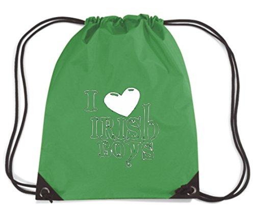 T-Shirtshock - Rucksack Budget Gymsac OLDENG00849 love irish boys logo, Größe Kapazität 11 Liter (Irish Love Boys-t-shirts)