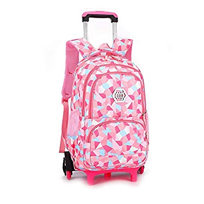 BYEON-Geometrische-Figur-Kinder-Rollrucksack-Rollrucksack-Trolley-Schultasche-Reisegepck