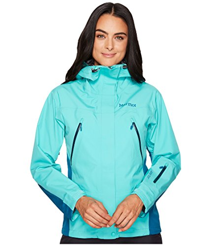 Marmot Damen Spire Jacket Hardshelljacke, Waterfall/Late Night, M