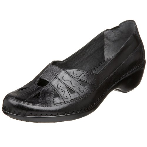 Easy Spirit Dixiee Damen Rund Leder Slipper Black