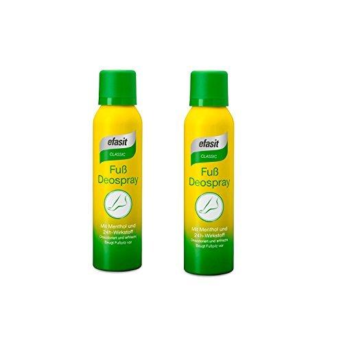 efasit CLASSIC Fuß Deo Spray mit Menthol und 24h Wirkstoff 2er Pack(2x150ml)