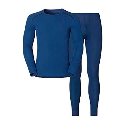 Odlo Herren Shirt L/S Pants Long Warm Set Unterhemd & Unterhose