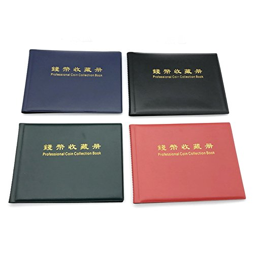 Münzalbum, 180 Taschen Münzsammlung Album für Sammler Münzsammelhalter Anzeige Buch Geld Penny Speicherorganisator von Yunhigh - blau
