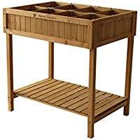 Vegtrug - Mesa de Cultivo, Incluye Compartimentos para Plantas // 80x 78x 58cm (Largo x Prof. x Alto)