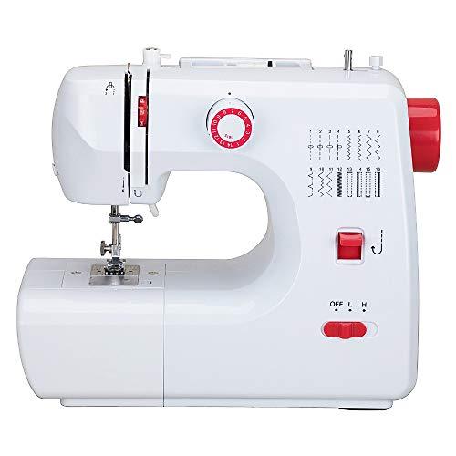 Máquina de coser portátil con pedal de 2 velocidades 16 puntos de costura bordado Overlock Máquina de coser rápida Herramienta de costura doméstica