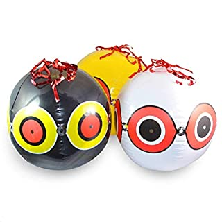 ASPECTEK Bird Repellent Scary Eye Balloons Reliable Visual Deterrent: Secure Your Property From Damage/Mess. Ward off Woodpecker, Pigeons, Sparrows