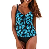 Bikini Sport Damen,Covermason Bikini Retro Badeanzug Einteiler Tankini Bademode Badeanzug One Shoulder Swimwear Swimsuit