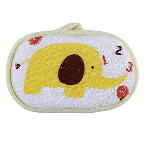 Waschen Net (JOOFFF Elefant Badebürste Nette Kinder Schwamm Bad Wischen Dusche Waschen Gesicht Handtuch Zubehör Für Kinder Kind Junge Mädchen, Gelb)