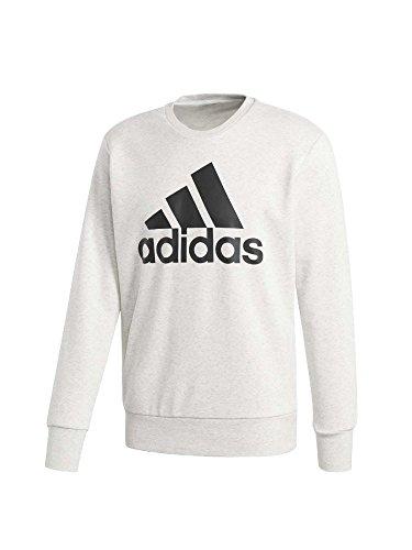 adidas ESS Biglog Crew Sweatshirt Herren Farbe Weiß meliert, Größe M