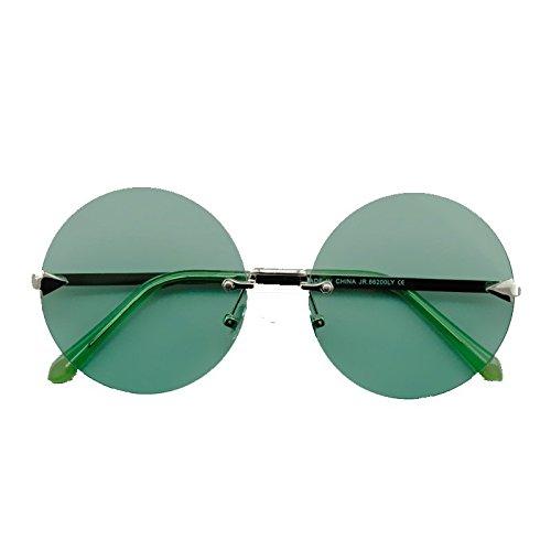 MX Sonnenbrille - Ultra Erwachsene Retro Runde Sonnenbrille Gering Stil John Lennon Sonnenbrille Vintage Look Qualität UV400 Elton John Lennon Brille Männer Frauen Größe -14.6x14.5cm # (Farbe : E)