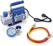 Taidda Vacuum Pump, 220V 150W Vacuum Pump Kit For Air Conditioning Refrigerator With Pressure Gauge Tube