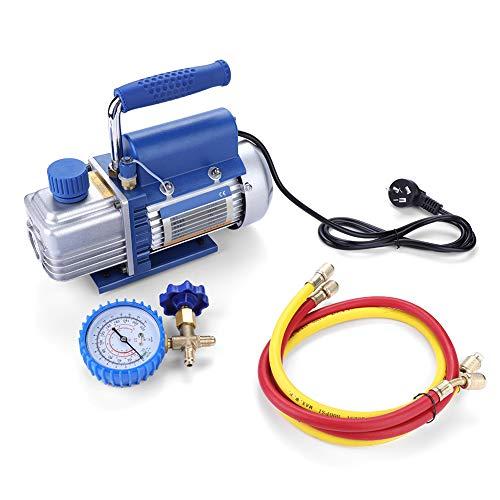 Bomba de vacío con cable, enchufe CN 220V 150W Kit de bomba de vacío para aire acondicionado/refrigerador...