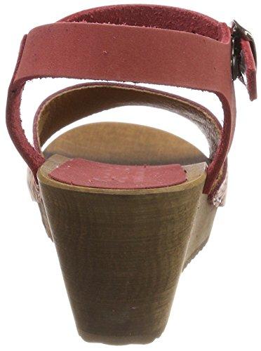 Sanita Othenia Wedge Flex, Sandali con Cinturino Alla Caviglia Donna rosso (rosso)