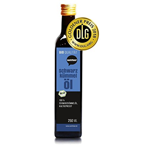 Huile de nigelle bienfaisante bio 250ml–pression à froid de qualité...